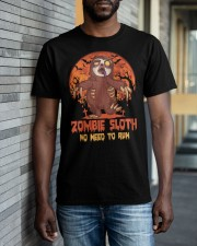 Zombie Sloth No Need To Run Classic T-Shirt apparel-classic-tshirt-lifestyle-front-40