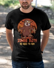 Zombie Sloth No Need To Run Classic T-Shirt apparel-classic-tshirt-lifestyle-front-50