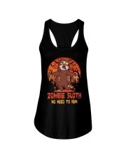 Zombie Sloth No Need To Run Ladies Flowy Tank tile