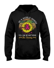 Breast Cancer Awareness Be Strong  Hooded Sweatshirt thumbnail