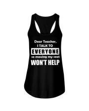 Dear teacher Ladies Flowy Tank tile
