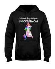 Kinda busy being a unicorn Mom Hooded Sweatshirt tile