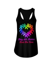 They all matter find the cure Ladies Flowy Tank thumbnail