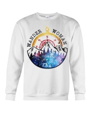 Wander Woman Camping Lovers Crewneck Sweatshirt tile