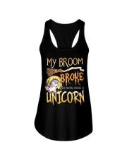 My Broom Broke So Now I Ride A Unicorn Ladies Flowy Tank tile