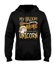 My Broom Broke So Now I Ride A Unicorn Hooded Sweatshirt tile