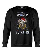 Autism Be Kind Elephant Crewneck Sweatshirt tile