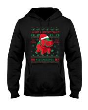 I want Hippopotamus  for christmas Hooded Sweatshirt thumbnail
