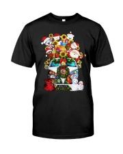 Hippie Bus Santa   Classic T-Shirt front
