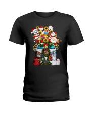 Hippie Bus Santa   Ladies T-Shirt tile
