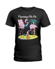 Flamingo Ho Ho Ladies T-Shirt thumbnail