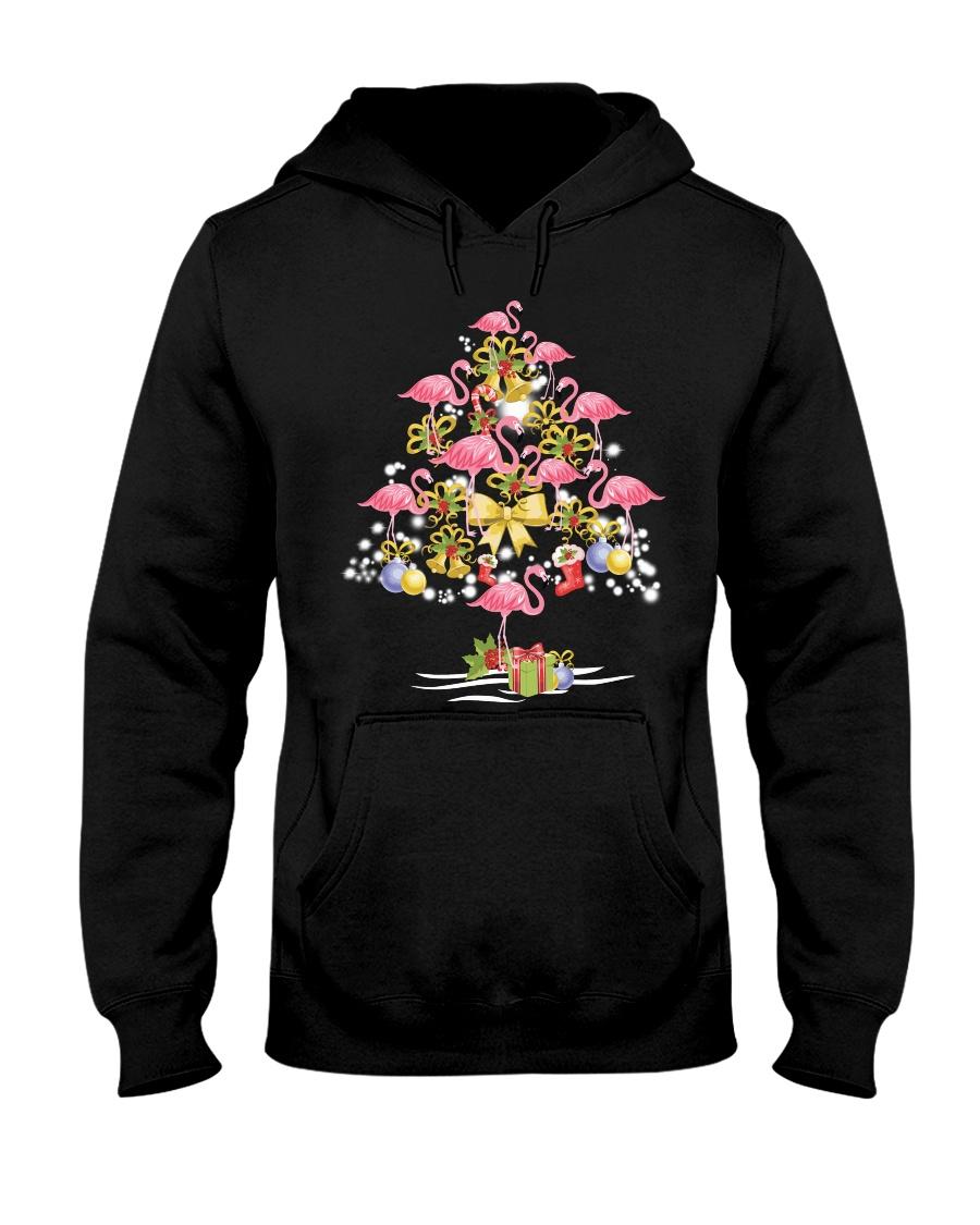 Flamingo Christmas Hooded Sweatshirt
