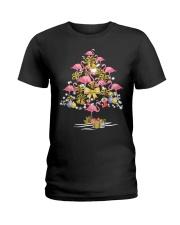 Flamingo Christmas Ladies T-Shirt thumbnail