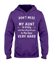 Don't mess my aunt Hooded Sweatshirt front