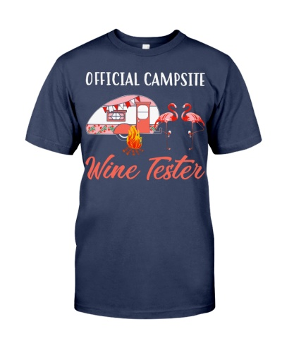 Official campsite wine tester