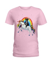 Sweet Unicorn Pitbull  Ladies T-Shirt thumbnail