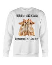 Chihuahua Make Me Happy Crewneck Sweatshirt thumbnail