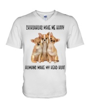 Chihuahua Make Me Happy V-Neck T-Shirt thumbnail