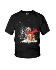 Golden Retriever Snow Youth T-Shirt thumbnail