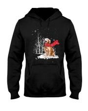 Golden Retriever Snow Hooded Sweatshirt thumbnail
