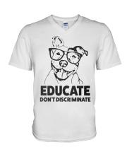Pitbull Educate V-Neck T-Shirt thumbnail