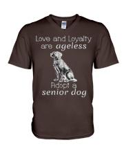 Adopt a Senior Dog  V-Neck T-Shirt thumbnail