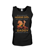 Behind Every Horse Girl Gift For Daddy Unisex Tank thumbnail