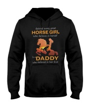 Behind Every Horse Girl Gift For Daddy Hooded Sweatshirt thumbnail
