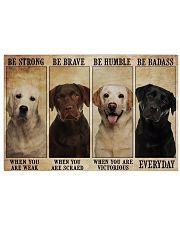 Labrador Badass 17x11 Poster front