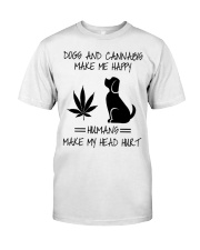 Dogs And Cannabis Happy Classic T-Shirt thumbnail
