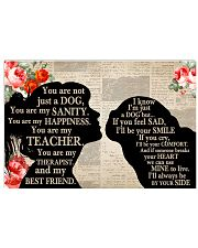 Pug Girl Therapist Best Friend 17x11 Poster front