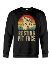 Pitbull Resting Face Crewneck Sweatshirt thumbnail