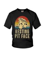 Pitbull Resting Face Youth T-Shirt thumbnail