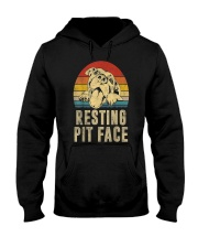 Pitbull Resting Face Hooded Sweatshirt thumbnail