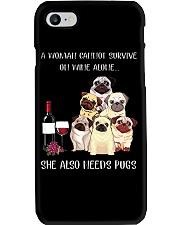 Woman Need Pugs Phone Case thumbnail