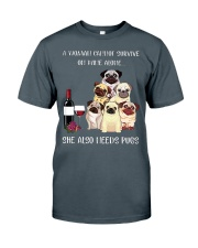 Woman Need Pugs Classic T-Shirt front