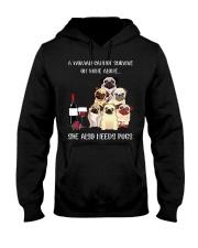 Woman Need Pugs Hooded Sweatshirt thumbnail