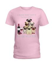 Woman Need Pugs Ladies T-Shirt thumbnail