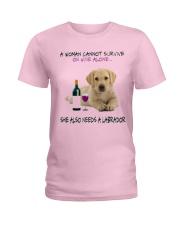 A Woman Also need A Labrador Ladies T-Shirt thumbnail