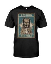 Pitbull Resting Classic T-Shirt front