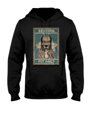 Pitbull Resting Hooded Sweatshirt tile