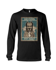 Pitbull Resting Long Sleeve Tee tile
