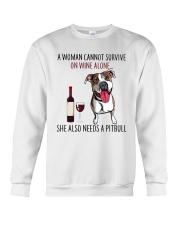 Woman Needs Pitbull Crewneck Sweatshirt thumbnail