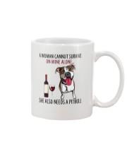 Woman Needs Pitbull Mug thumbnail