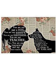 Husky Therapist Best Friend 17x11 Poster front