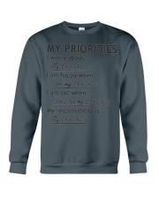 Chihuahua My Priorities  Crewneck Sweatshirt thumbnail