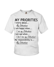 Chihuahua My Priorities  Youth T-Shirt thumbnail