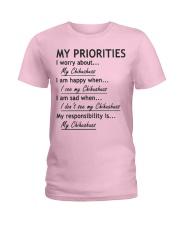 Chihuahua My Priorities  Ladies T-Shirt thumbnail