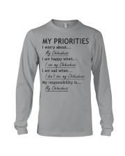 Chihuahua My Priorities  Long Sleeve Tee thumbnail