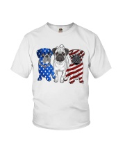 Pugs Flag Youth T-Shirt thumbnail
